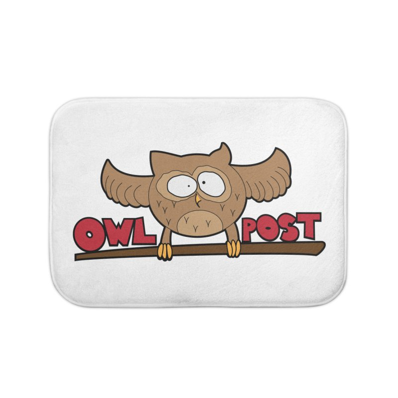 OwL PoSt Home Bath Mat by The Modern Goldfish Shop