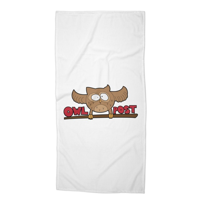 OwL PoSt Accessories Beach Towel by The Modern Goldfish Shop