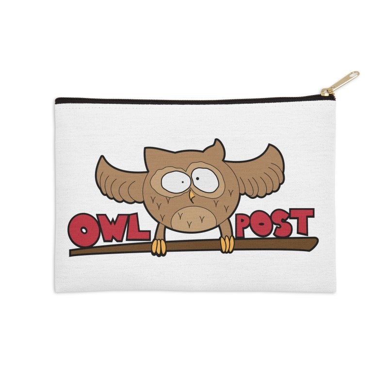 OwL PoSt Accessories Zip Pouch by The Modern Goldfish Shop