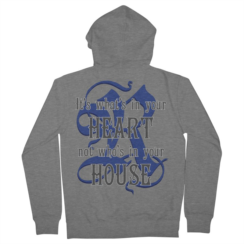 Heart not House - Ravenclaw Women's French Terry Zip-Up Hoody by The Modern Goldfish Shop