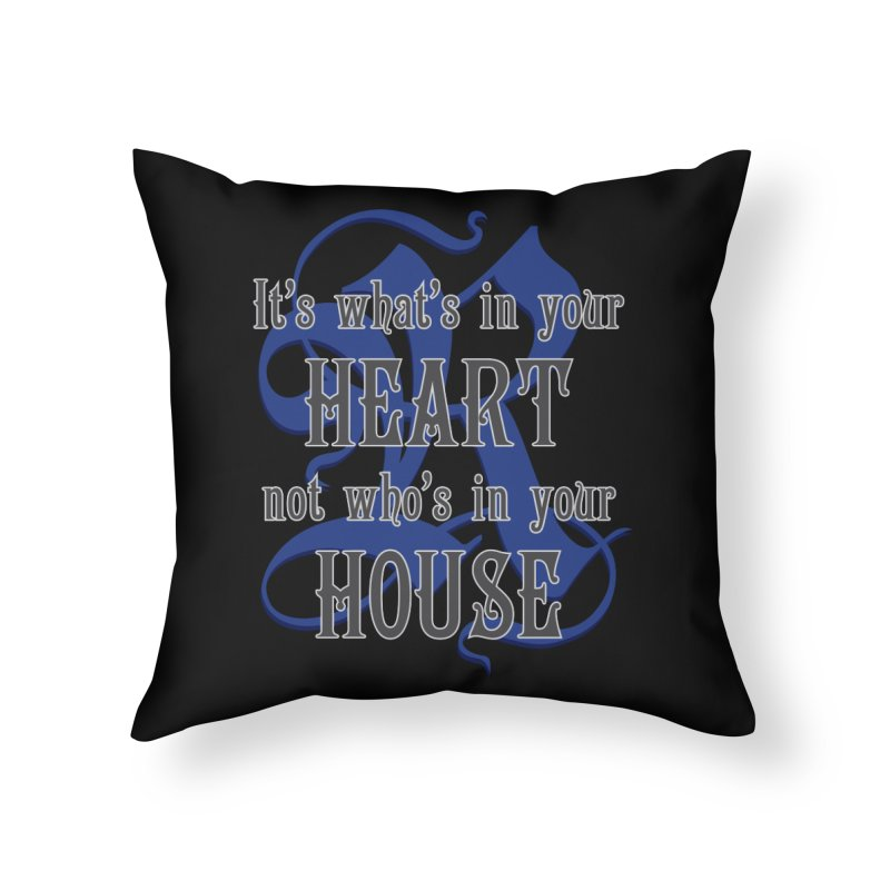 Heart not House - Ravenclaw Home Throw Pillow by The Modern Goldfish Shop