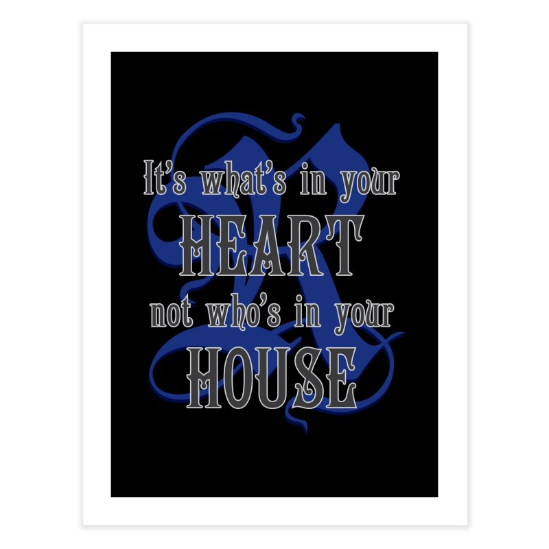 Heart not House - Ravenclaw Home Fine Art Print by The Modern Goldfish Shop