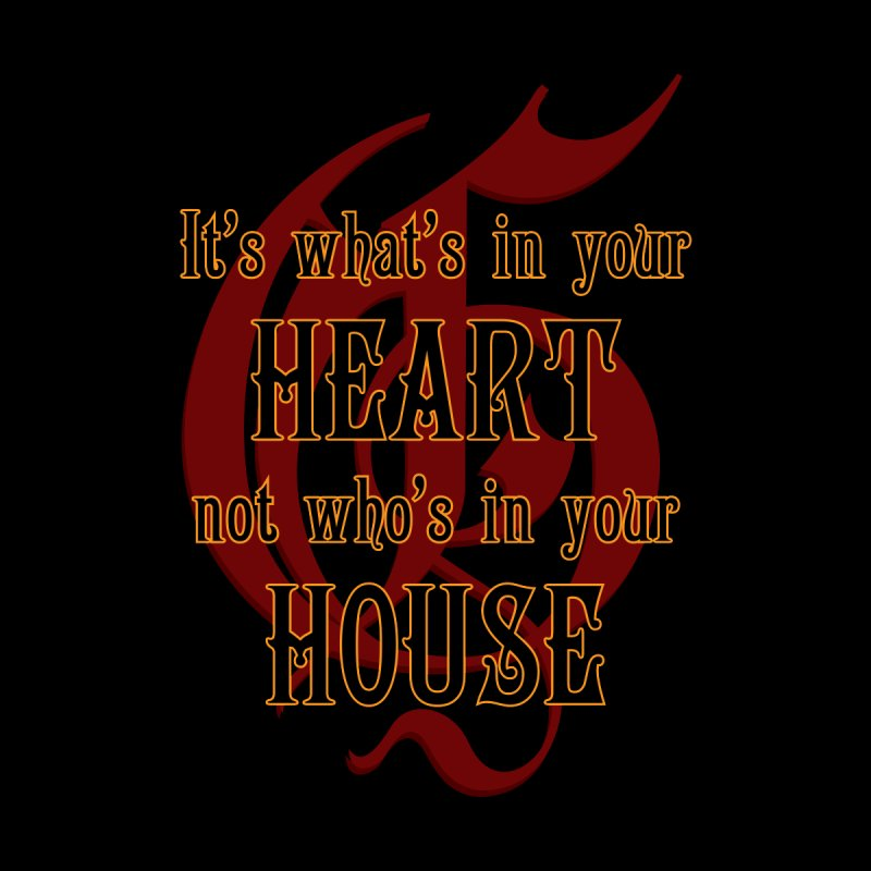 Heart not House - Gryffendor Men's T-Shirt by The Modern Goldfish Shop