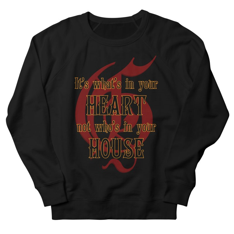 Heart not House - Gryffendor Men's Sweatshirt by The Modern Goldfish Shop