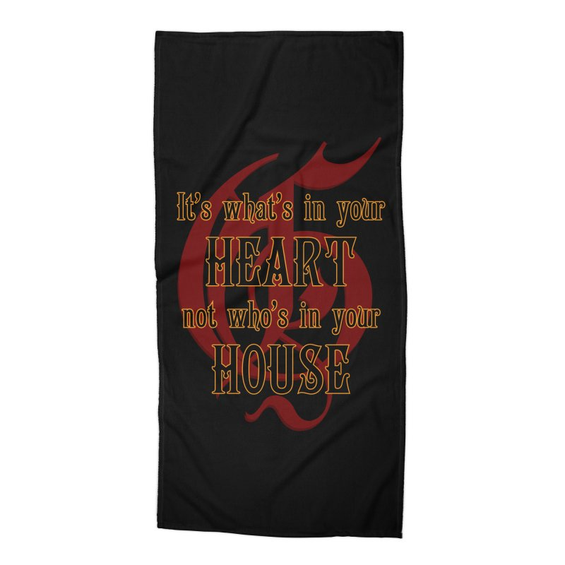 Heart not House - Gryffendor Accessories Beach Towel by The Modern Goldfish Shop