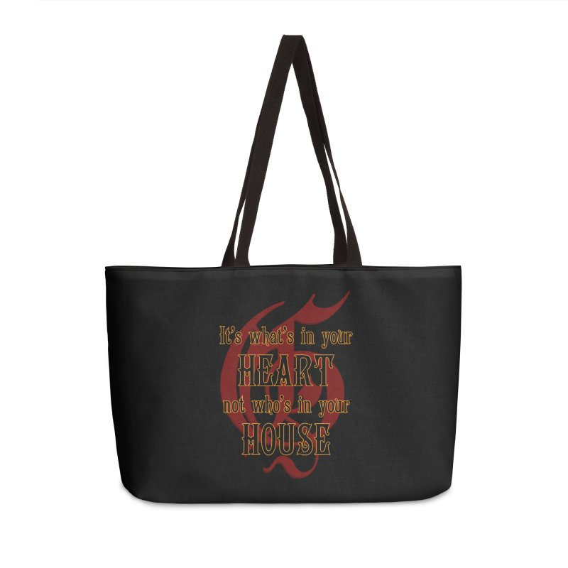 Heart not House - Gryffendor Accessories Weekender Bag Bag by The Modern Goldfish Shop