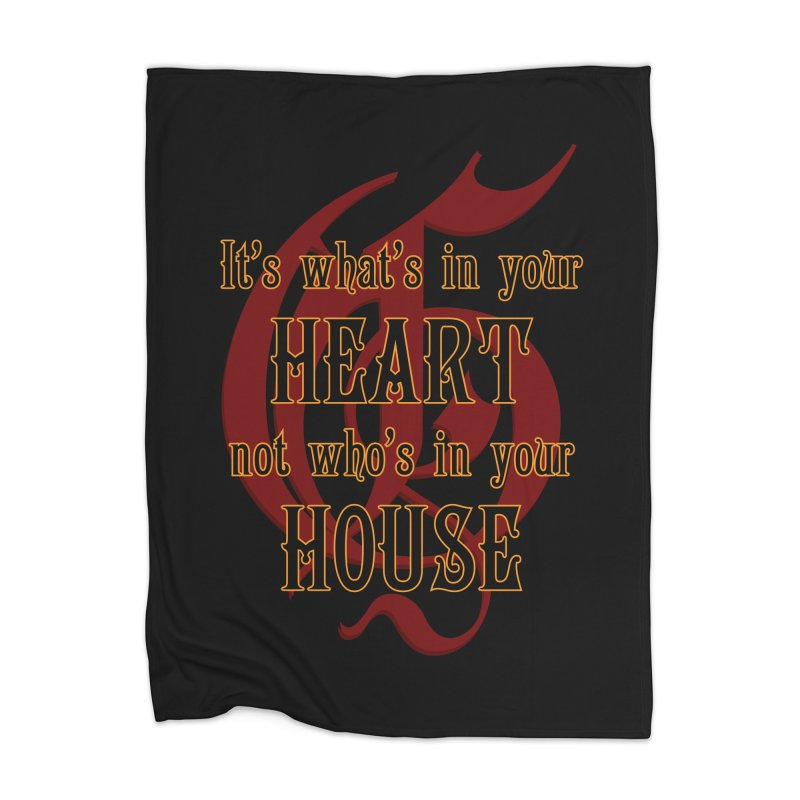 Heart not House - Gryffendor Home Blanket by The Modern Goldfish Shop