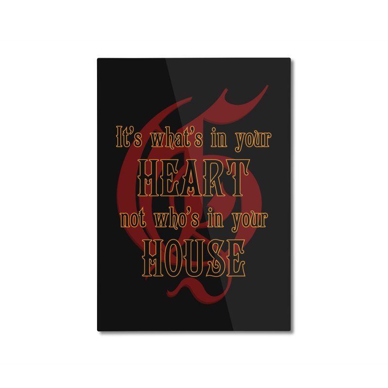 Heart not House - Gryffendor Home Mounted Aluminum Print by The Modern Goldfish Shop