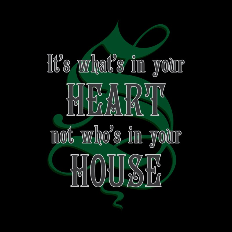 Heart not House - Slytherin Home Mounted Aluminum Print by The Modern Goldfish Shop