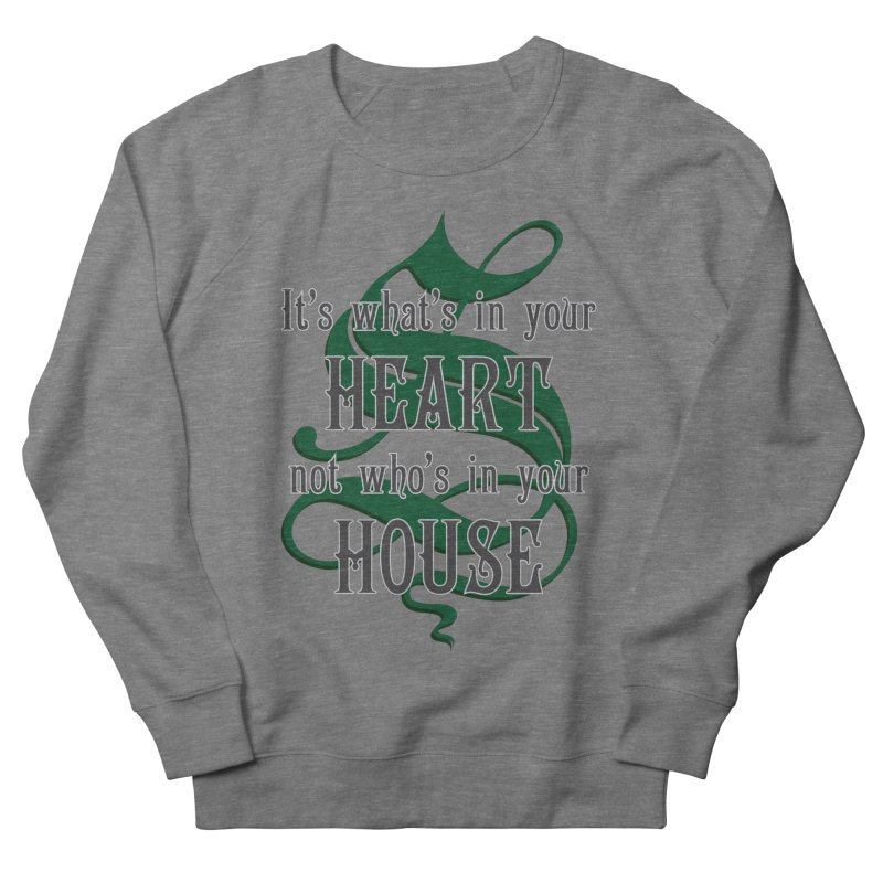 Heart not House - Slytherin Men's French Terry Sweatshirt by The Modern Goldfish Shop