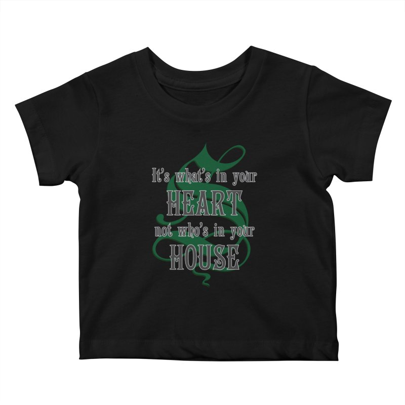 Heart not House - Slytherin Kids Baby T-Shirt by The Modern Goldfish Shop