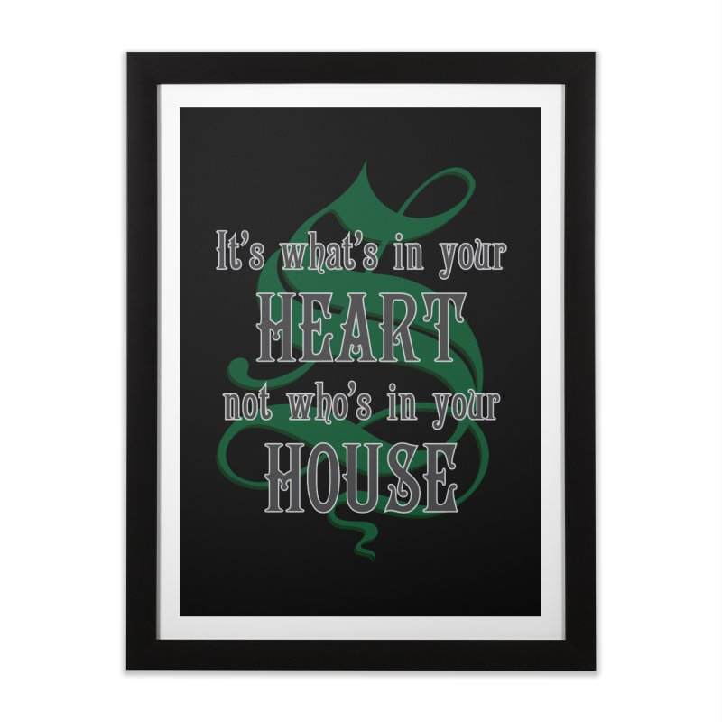 Heart not House - Slytherin Home Framed Fine Art Print by The Modern Goldfish Shop
