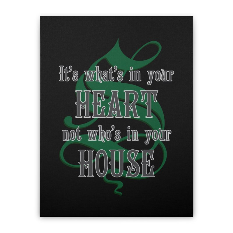 Heart not House - Slytherin Home Stretched Canvas by The Modern Goldfish Shop