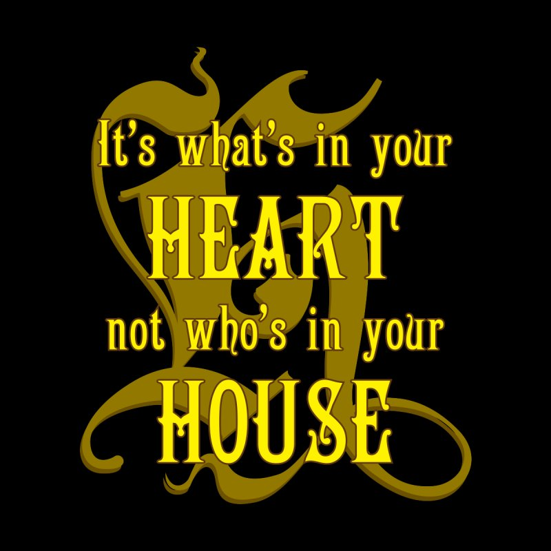 Heart not House - Hufflepuff Men's Sweatshirt by The Modern Goldfish Shop