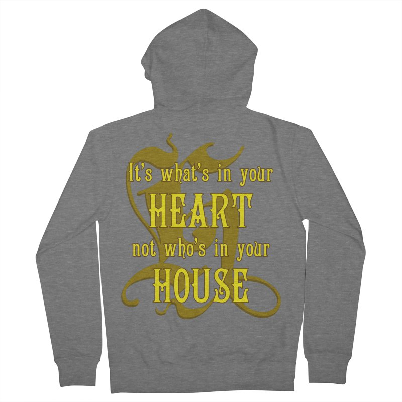 Heart not House - Hufflepuff Women's Zip-Up Hoody by The Modern Goldfish Shop
