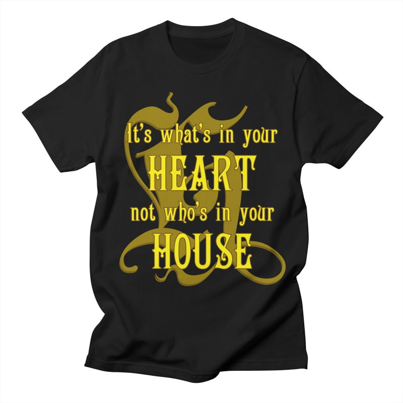 Heart not House - Hufflepuff Men's T-Shirt by The Modern Goldfish Shop