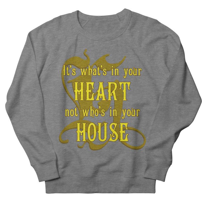 Heart not House - Hufflepuff Men's Sweatshirt by The Modern Goldfish Shop