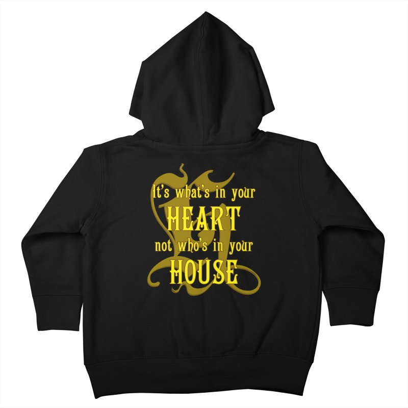 Heart not House - Hufflepuff Kids Toddler Zip-Up Hoody by The Modern Goldfish Shop