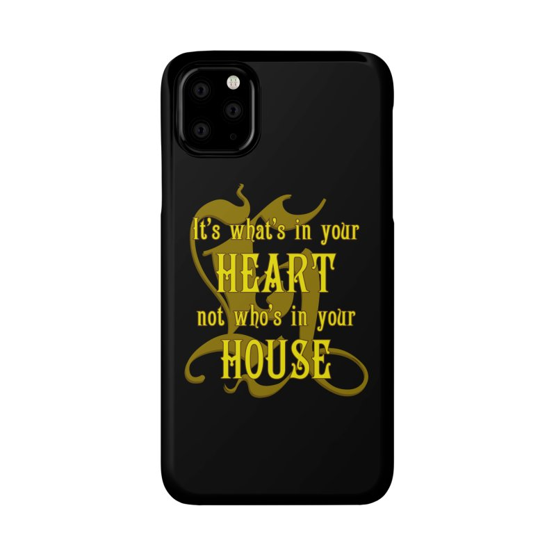 Heart not House - Hufflepuff Accessories Phone Case by The Modern Goldfish Shop