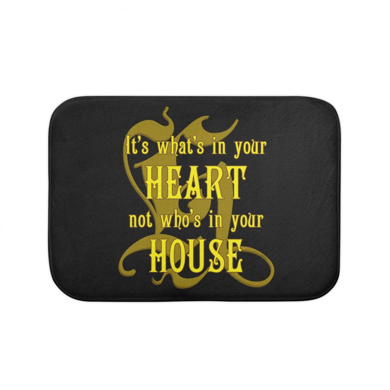 Heart not House - Hufflepuff Home Bath Mat by The Modern Goldfish Shop