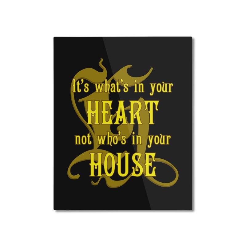 Heart not House - Hufflepuff Home Mounted Aluminum Print by The Modern Goldfish Shop