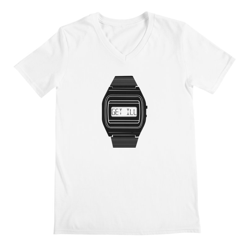 What's The Time? Men's Regular V-Neck by Modern Superior