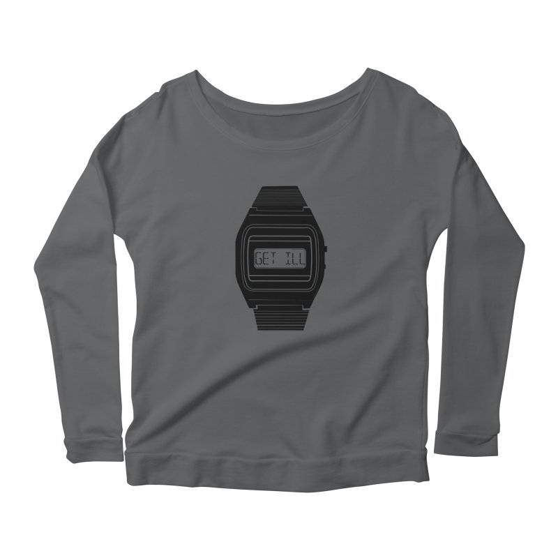 What's The Time? Women's Longsleeve Scoopneck  by Modern Superior