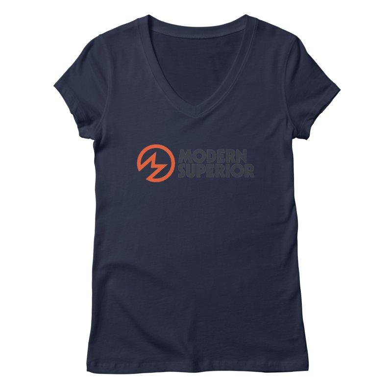 Modern Superior Logo Women's Regular V-Neck by Modern Superior