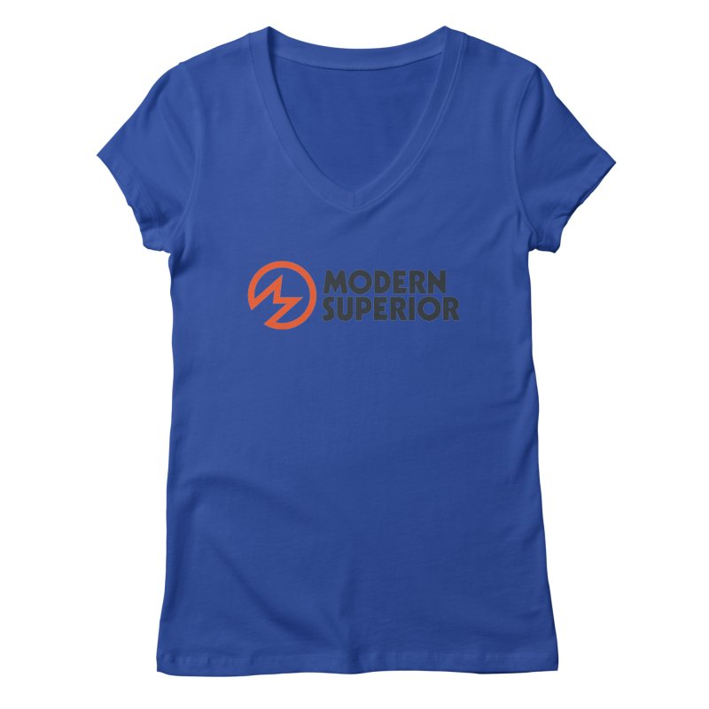 Modern Superior Logo Women's Regular V-Neck by Modern Superior