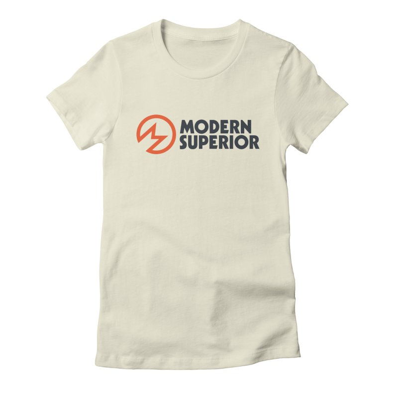 Modern Superior Logo Women's Fitted T-Shirt by Modern Superior