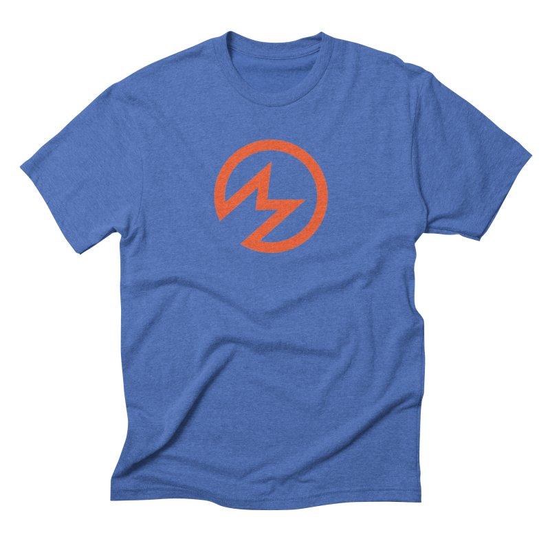 "Modern Superior ""M"" Logo in Men's Triblend T-Shirt Blue Triblend by Modern Superior"
