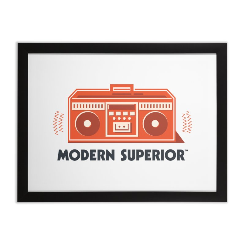 ModSup Boombox Home Framed Fine Art Print by Modern Superior