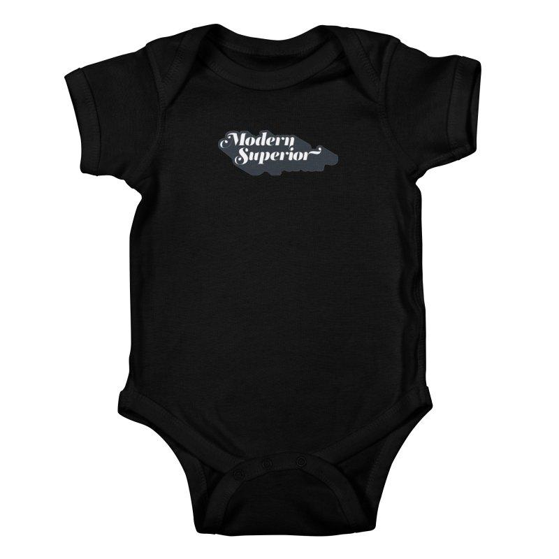 Modern Superior Fancy Text Kids Baby Bodysuit by Modern Superior