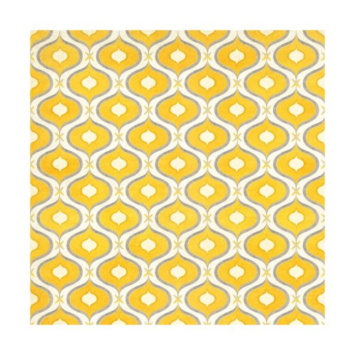 Design for Yellow and Gray Modern Ikat