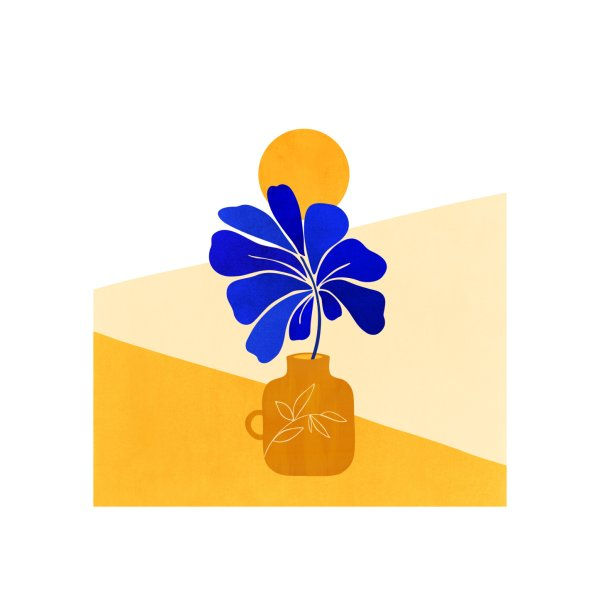 image for Tropical Blue Leaf Colorblock II