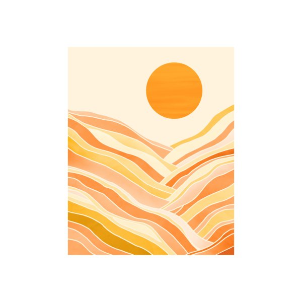 Design for Golden Mountain Sunset