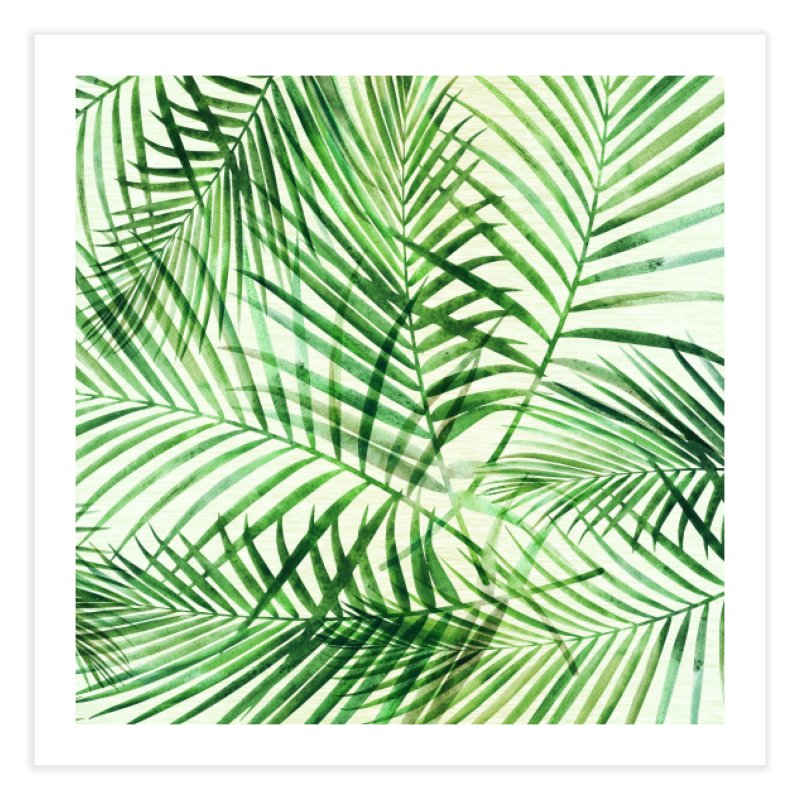 Green Palm Pattern Home Fine Art Print by Modern Tropical's Shop