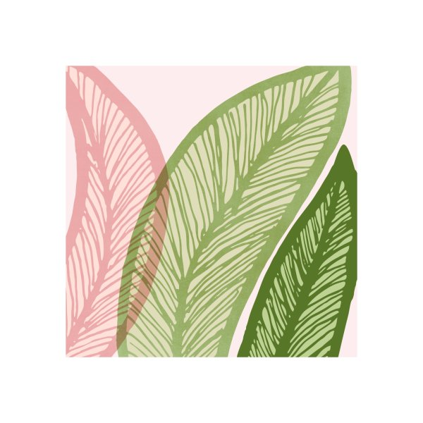 Design for Modern Banana Leaf