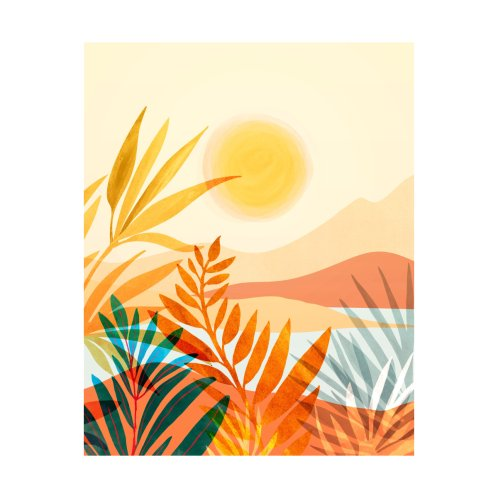 Design for Golden Hour Abstract Landscape