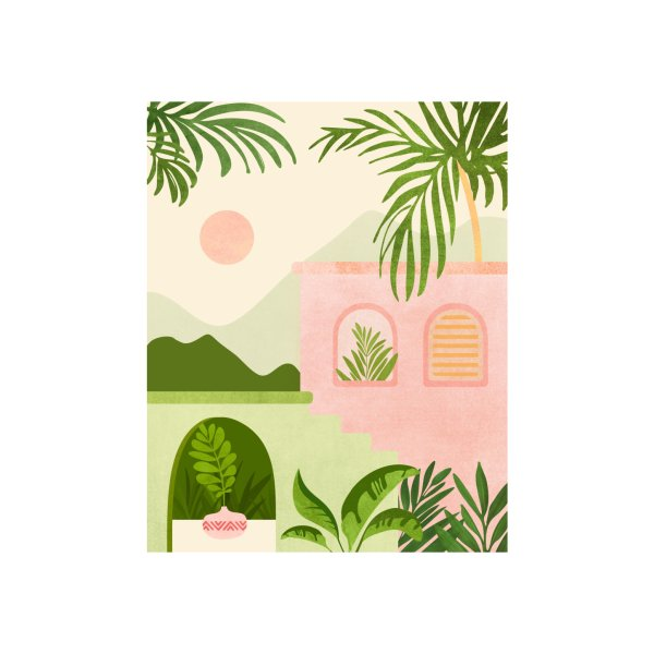 image for Tropical Mountain Villa - Landscape Illustration