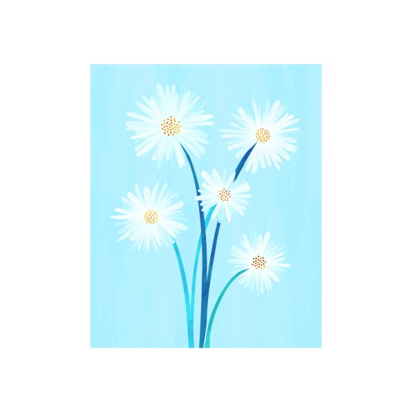 image for Bouquet and Blue Sky - Floral Illustration