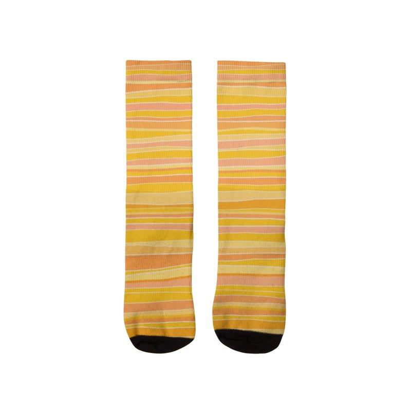 Sunshine Stripes - Yellow Orange and Gold Men's Socks by Modern Tropical's Shop