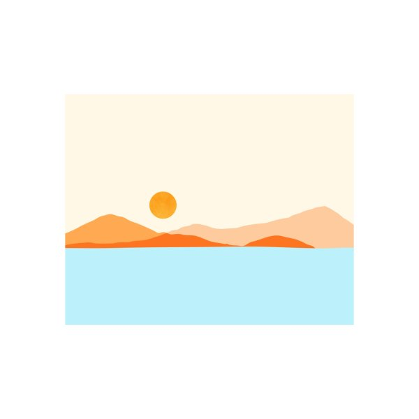 image for Desert Sea Minimal Landscape