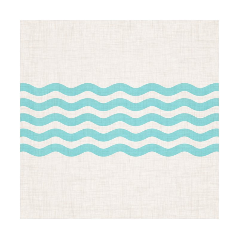 Coastal Turquoise Modern Waves Home Stretched Canvas by Modern Tropical's Shop