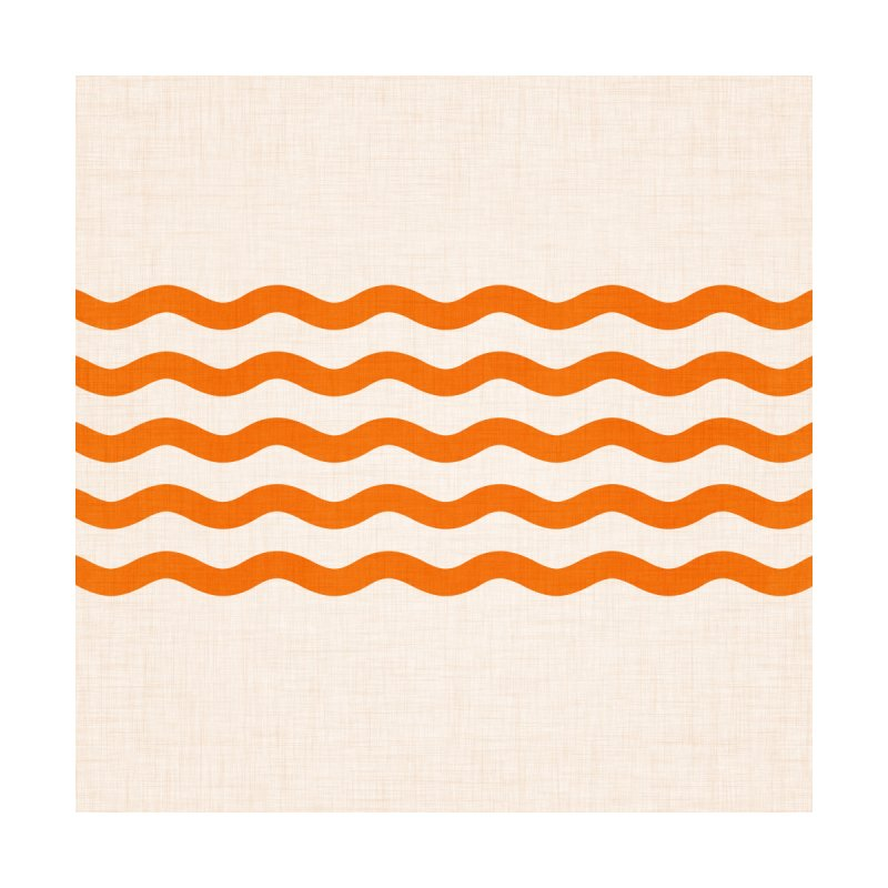 Coastal Orange Retro Waves Home Stretched Canvas by Modern Tropical's Shop