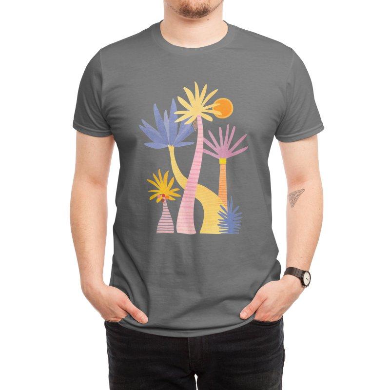 Whimsical Forest Landscape Men's T-Shirt by Modern Tropical's Shop