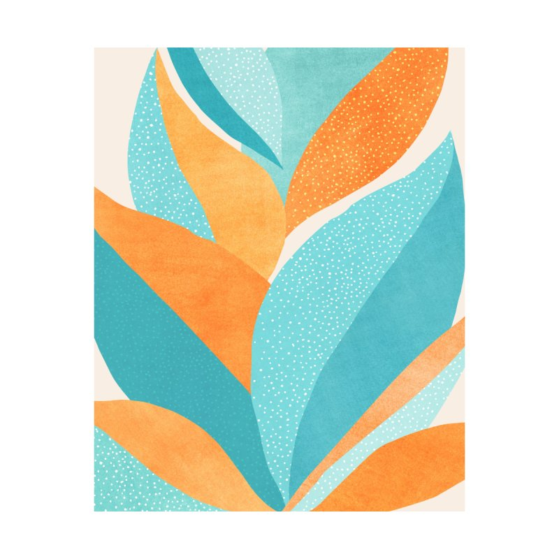 Abstract Tropical Plant 5 Home Framed Fine Art Print by Modern Tropical's Shop