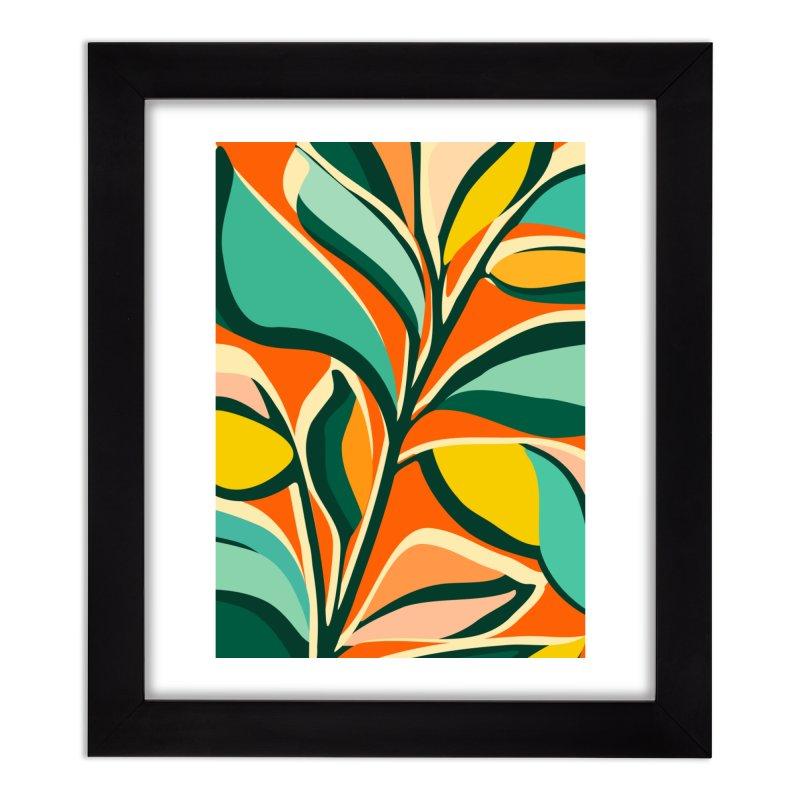 Mid Century Floral Festival Home Framed Fine Art Print by Modern Tropical's Shop
