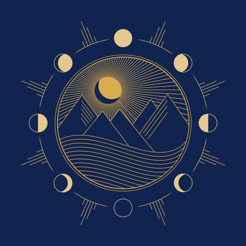 Moons and Mountains by Modern Tropical's Shop