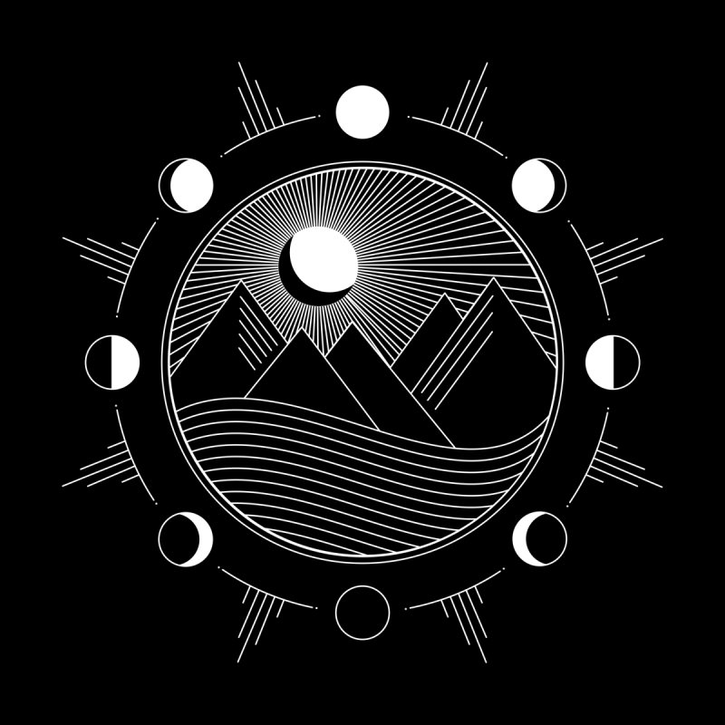Moons and Mountains - White by Modern Tropical's Shop